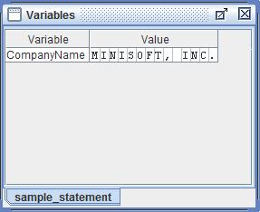 VariablesWindow